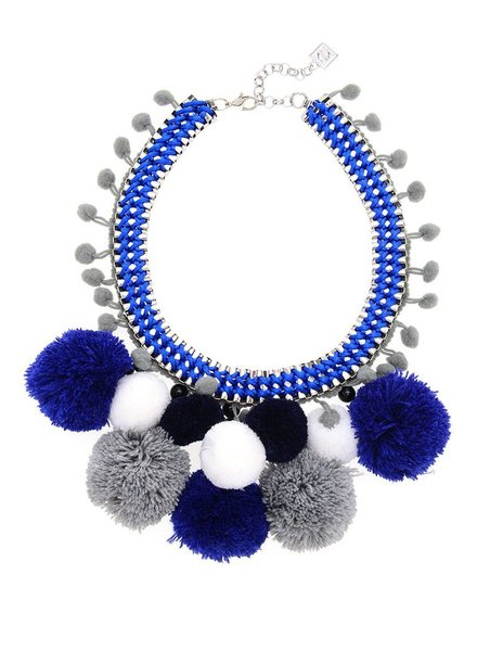 Pom Pom Madness In Blue