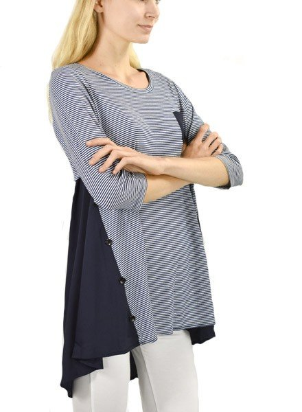 Comfy's Marilyn Tunic In Navy & Stripe