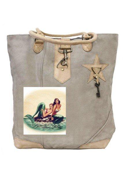 Sister Mermaids Canvas Tote