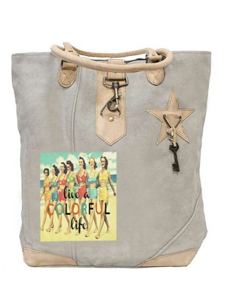 Live A Colorful Life Canvas Tote