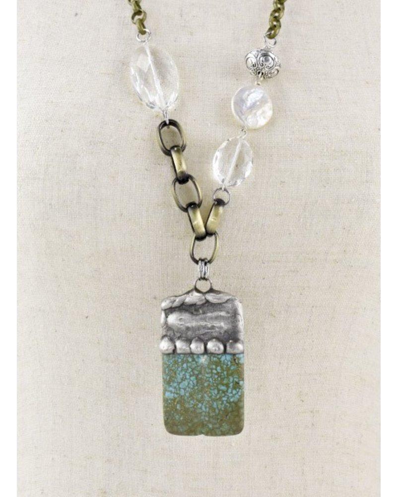Turquoise Chunk Handmade Necklace