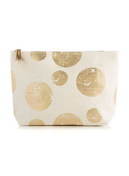 The Sidney Zip Pouch In Gold
