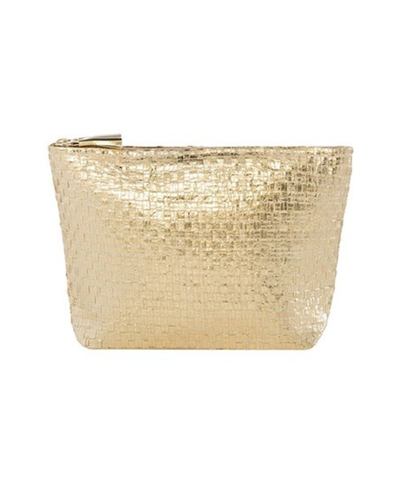The Adora Zip Pouch In Gold