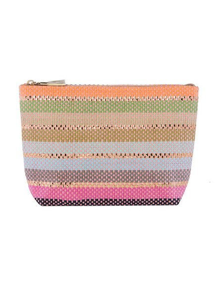 The Valeria Zip Pouch In Pinks