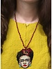 Handmade Frida Beaded Necklace In Purple