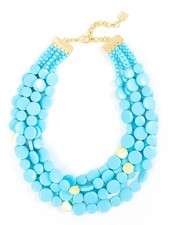 Oh My Dots! Beaded Necklace In Bright Blue