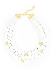Oh My Dots! Beaded Necklace In White