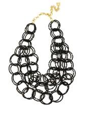 We Bead-LONG Together Link Necklace In Black