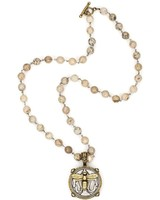 French Kande French Kande Silver Porto Brass Miel Stack on Opal Linkage