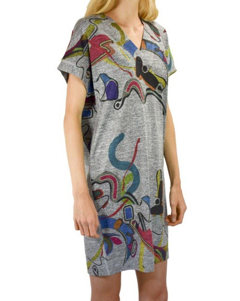 Inoah Inoah Map Tacks Dress