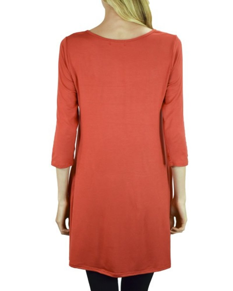 Throw-On Tunic/Dress In Red
