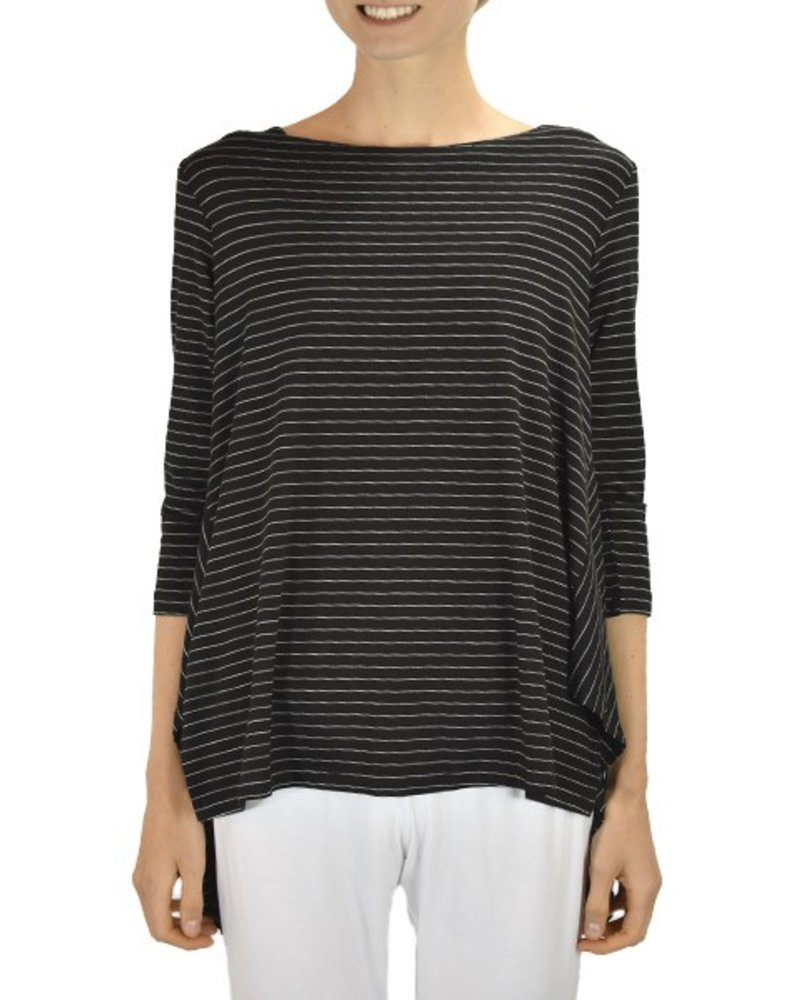 Comfy's Vancouver Tunic In Black Pinstripe