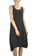 Comfy's Lisa Dress In Black Pinstripes