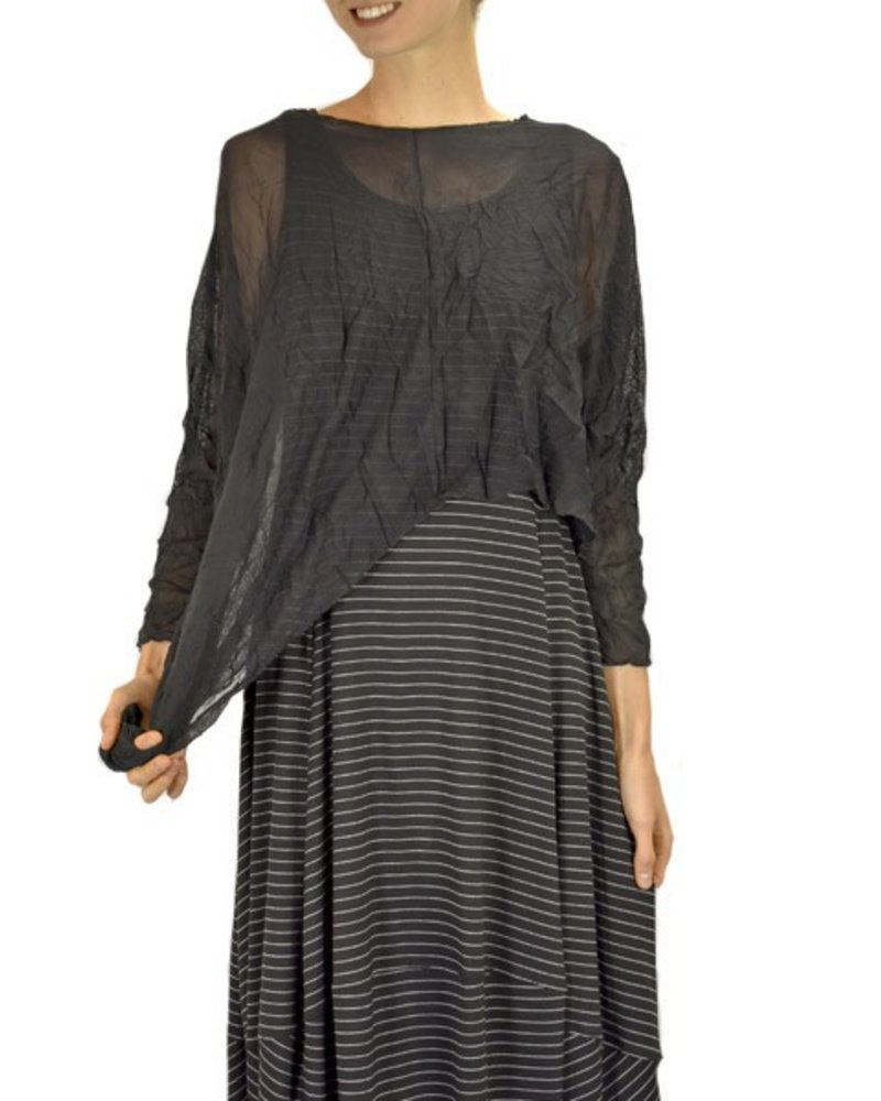 Comfy's Lisa Dress In Black Pinstripes