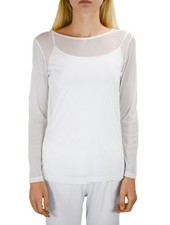 Comfy's Sheer Long Sleeve Tee In White