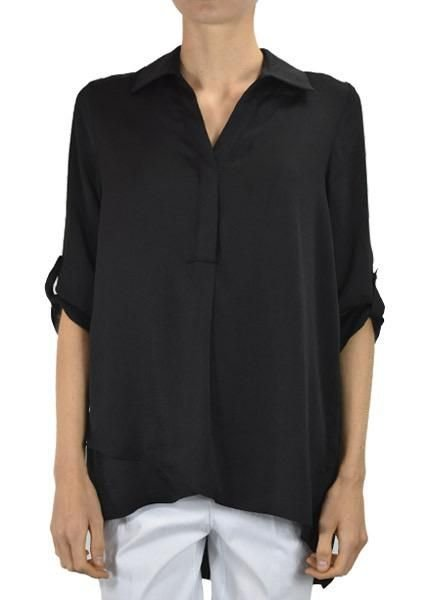 Renuar Soft And Beautiful Blouse In Black