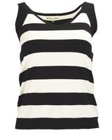 Effie's Heart The Paris Top In Black & Cream Stripe