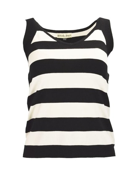 Effie's Heart The Paris Top In Black & Cream Stripe