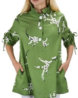 Terra's Cherry Blossom Top In Green