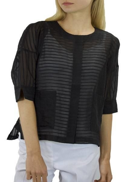 Terra's Sheer Short Jacket In Black