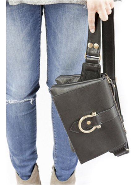 "Sapahn Leather ""Sarah Ann"" Crossbody In Black"