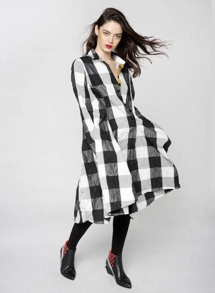 Alembika Alembika Giant Check Dress