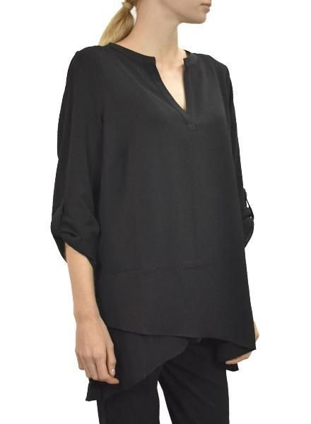 Renuar Renuar's Crepe Double Front  In Black