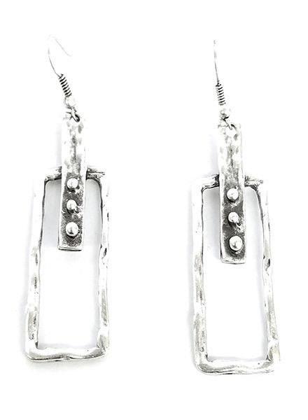 Chanour Art Earrings In Pewter