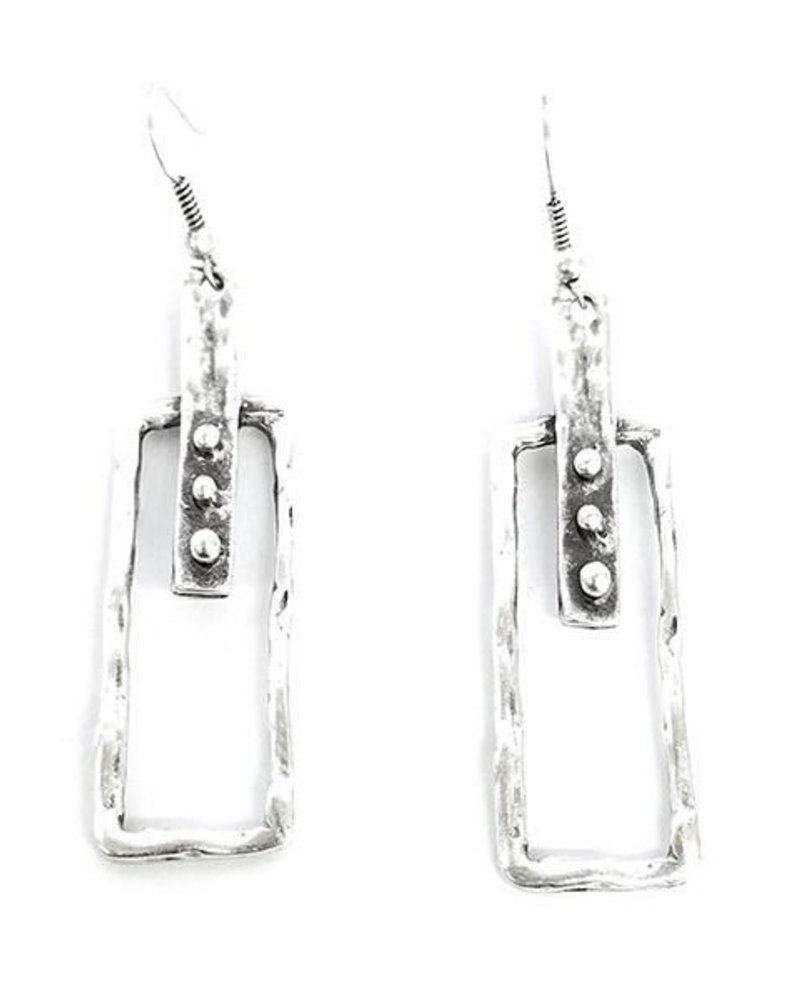Art Earrings In Pewter