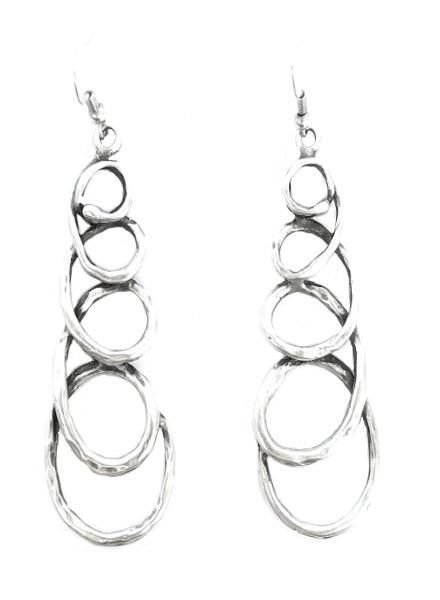 Chanour My Pewter Doodle Earrings
