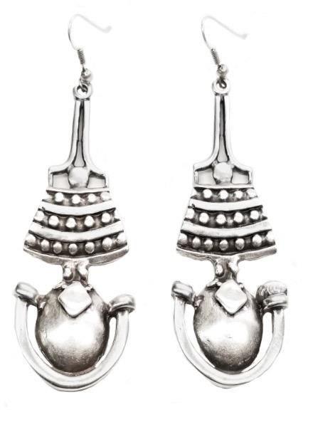 Chanour Perga Earrings In Pewter