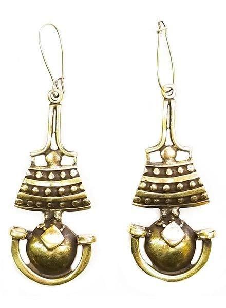 Perga Earrings In Bronze