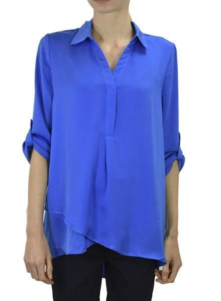 Renuar Renuar's Soft And Beautiful Blouse In Cerulean