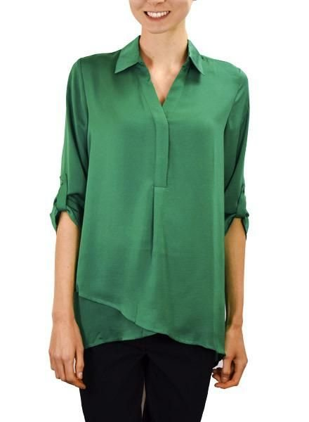 Renuar Renuar's Soft And Beautiful Blouse In Emerald