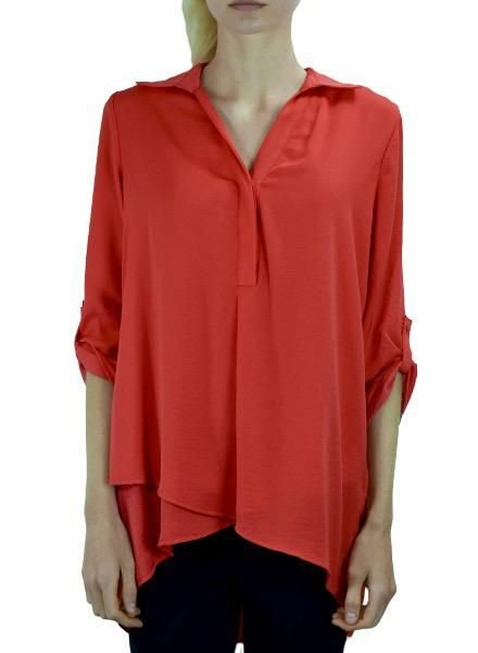 Renuar Renuar's Soft And Beautiful Blouse In Tomato