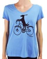 Marushka's Dog On His Bike Tee In Turquoise