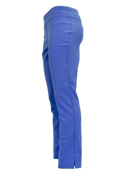 Renuar Renuar's Jacard Ankle Cigarette Pant In Cerulean Blue