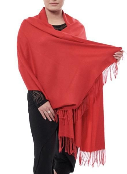 "Miss Nikky ""Cashmere"" Scarf/Wrap In Red"