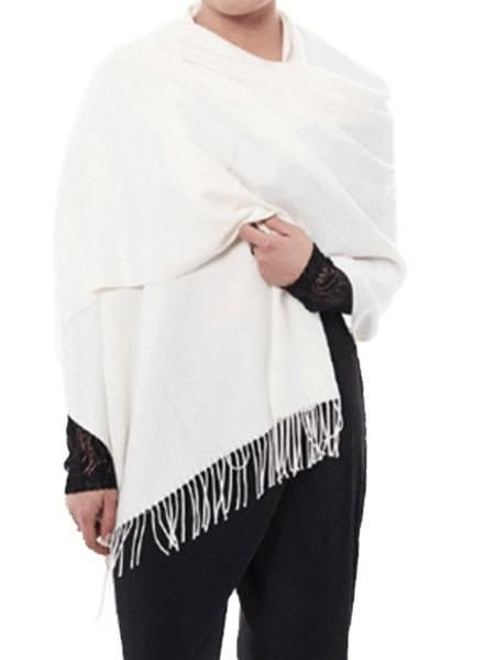 "Miss Nikky ""Casmere"" Scarf/Wrap In Off White"