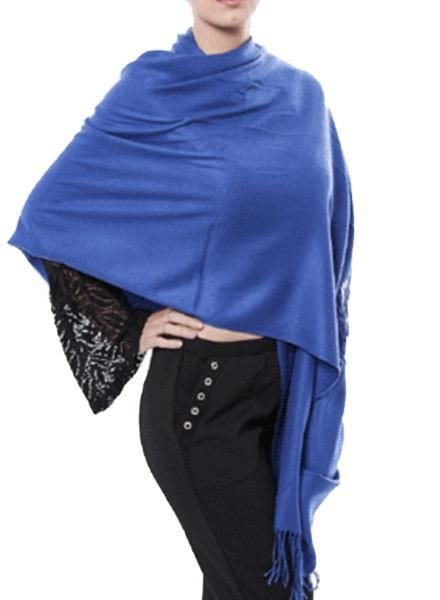 "Miss Nikky ""Cashmere"" Scarf/Wrap In Blue"