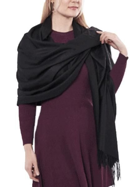 "Miss Nikky ""Cashmere"" Scarf/Wrap In Black"