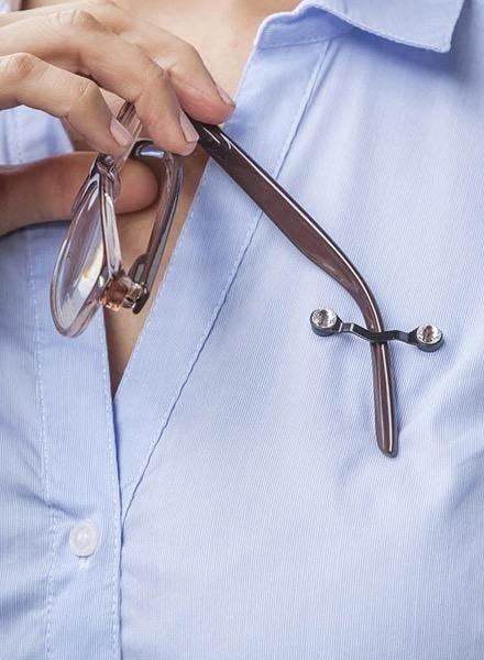 Readerest Eyeglass Holder In Swarovski Crystal On Black