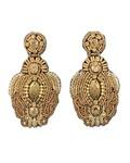 Beaded Throne Earrings in Gold