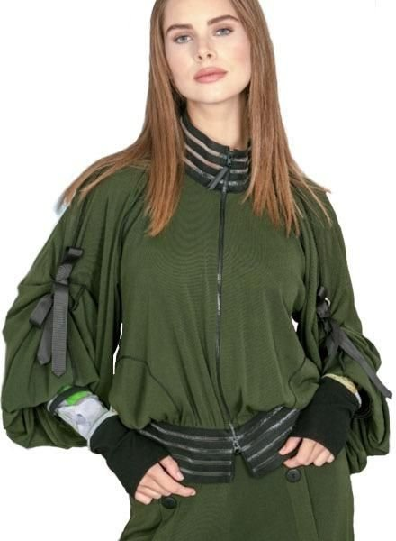 Petit Pois Bomber Jacket In Army