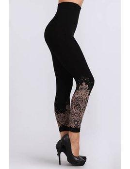 High Waist Lace Print Leggings