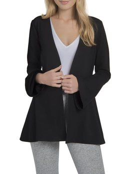 Flare Sleeve & Peplum Ponte Jacket