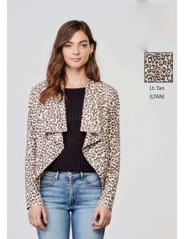 Leopard Faux Suede Jacket