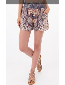 Floral Print Shorts with Elastic Waistband