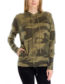 Camouflage  Knit Hoodie