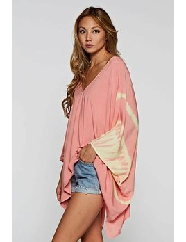Tie Dye Print Kimono Top